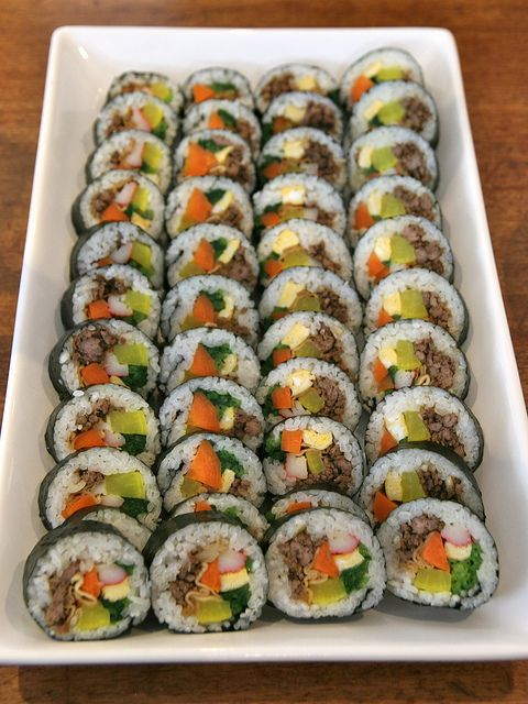 김밥 - Kimbap by jamiefrater, via Flickr