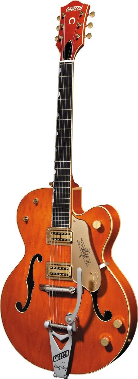 The legendary Gretsch 6120... This is the G6120-1959LTV Chet Atkins model which has the TV Jones Classic pickups.