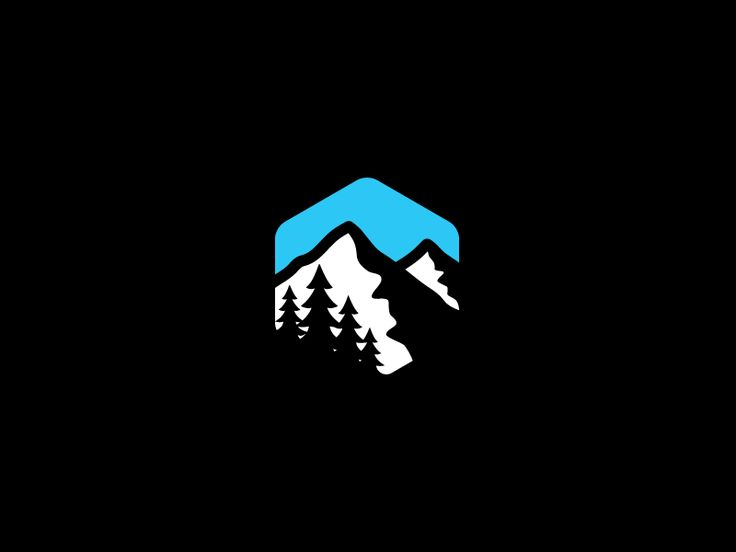 Mountain Logo - is it forming a hexagon? I can't tell...