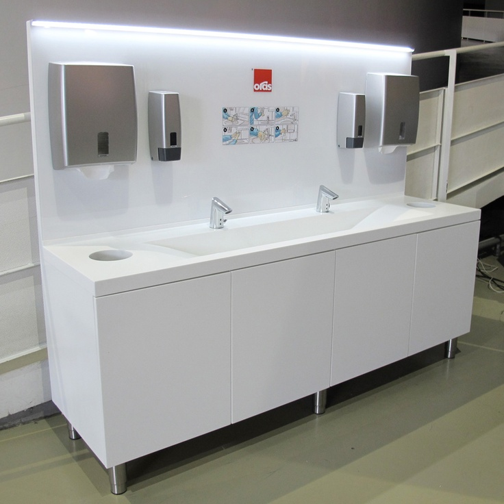 Oras handwashing furniture in Heureka, Vantaa in Finland
