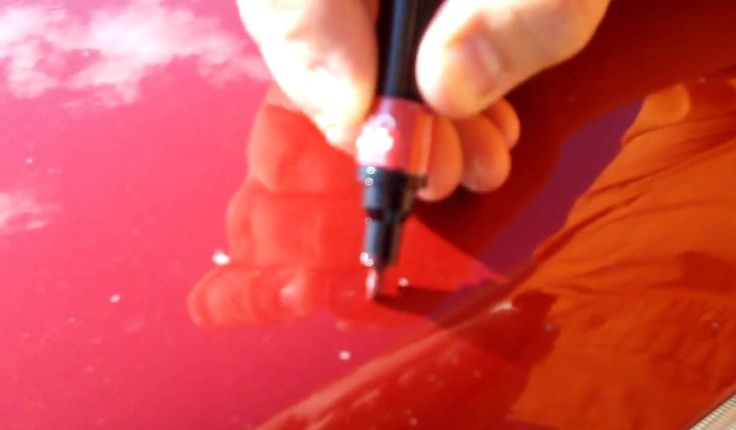 Applying Toyota Touch Up Paint