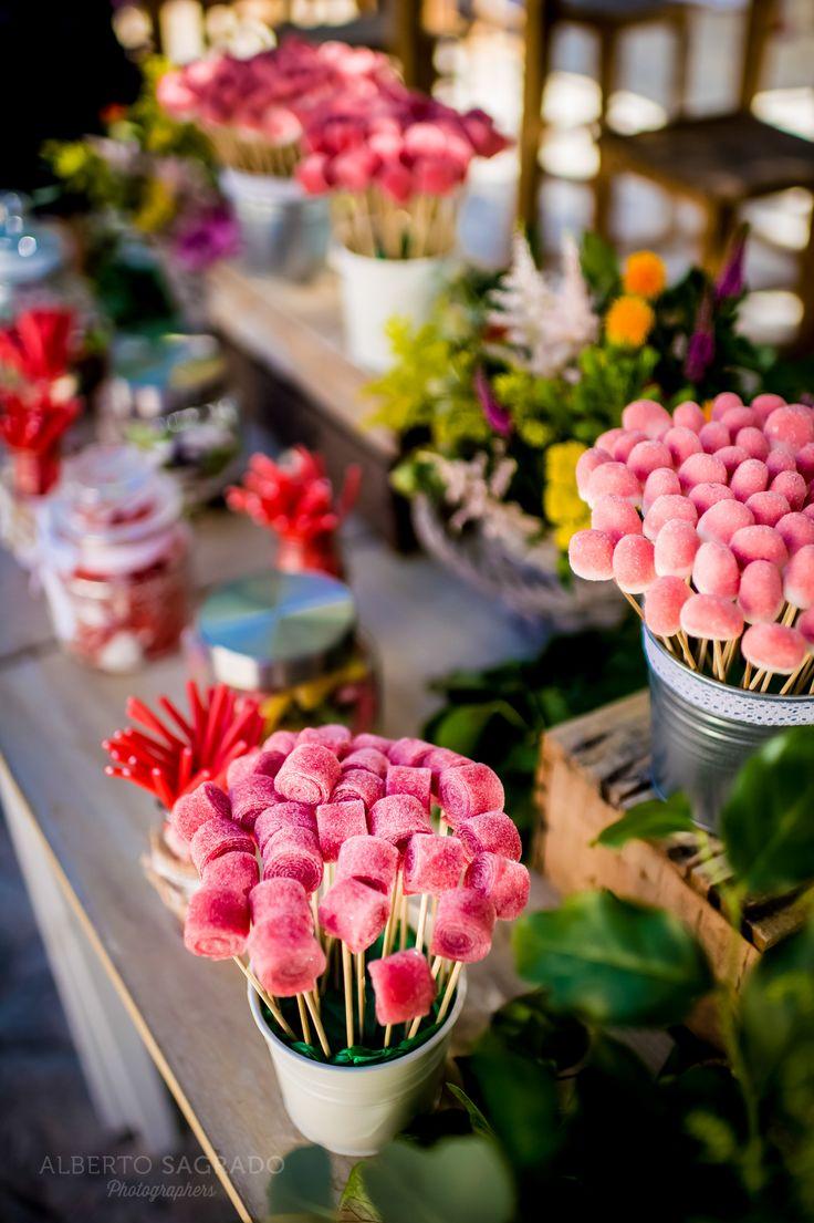 Mesas Dulces para bodas. Ideas para mesas dulces.