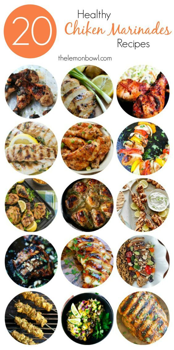 Chicken Marinades - A collection of healthy chicken marinade recipes for the summer!