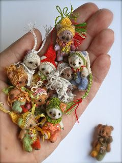 TS mini bears. These are so cute! Made with alpaca fur.