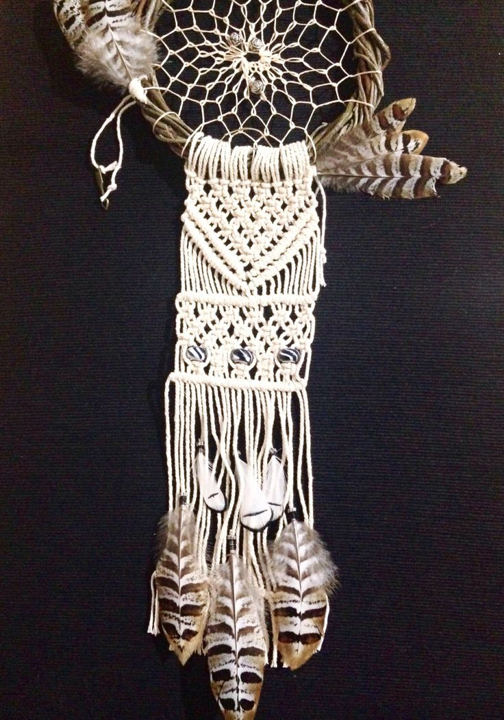 A personal favourite from my Etsy shop https://www.etsy.com/au/listing/491491395/dream-catcher-feathers-macrame-arrows