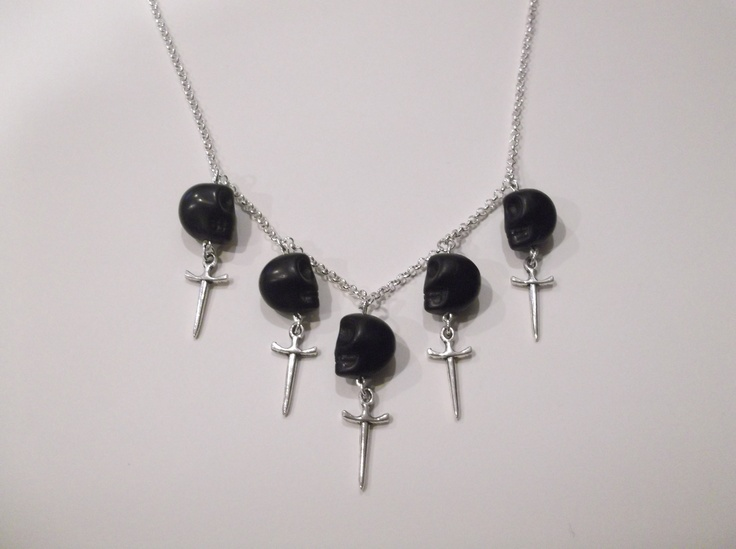 Only one in stock at the moment  Five skull Necklace  Price: $35  Length: 49cm  Contact: kendal.halloran@gmail.com