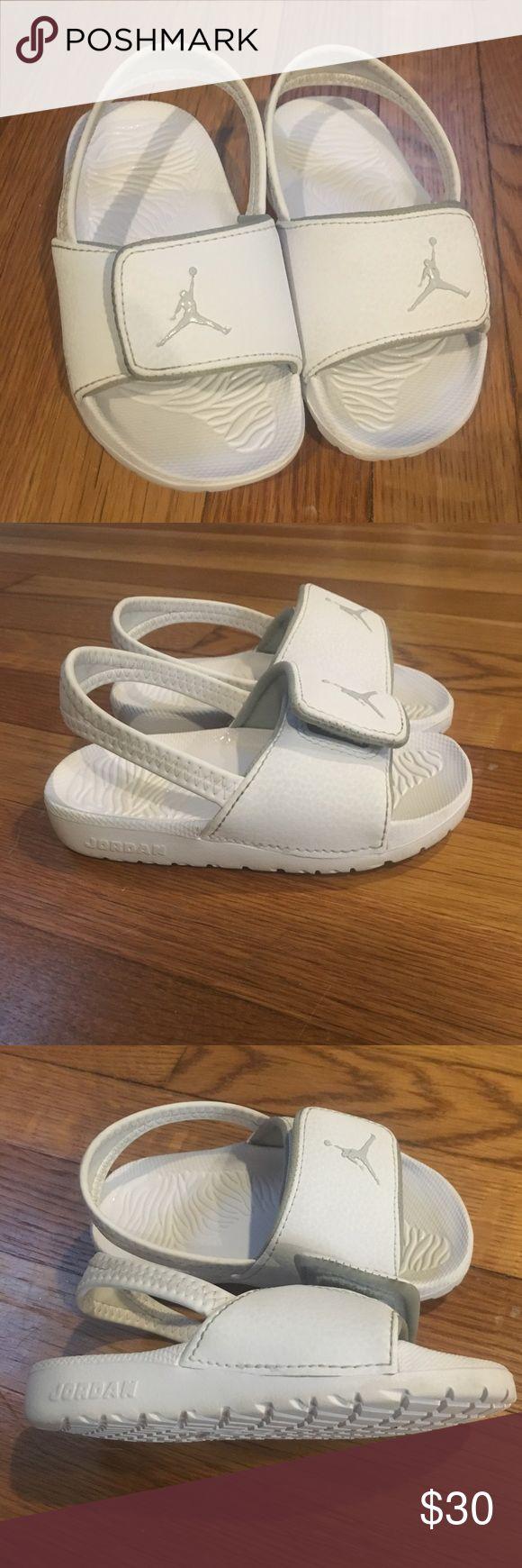 Kids Jordan Scandal White/Gray Jordan Scandal. Boy Size 9C, excellent condition never walked on. Jordan Shoes Sandals & Flip Flops