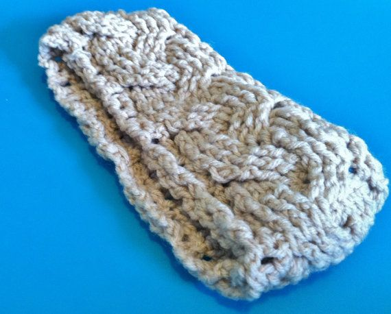 Crochet Headband Pattern Cable : Braided Cable Crocheted Headband-Earwarmer (not a pattern ...