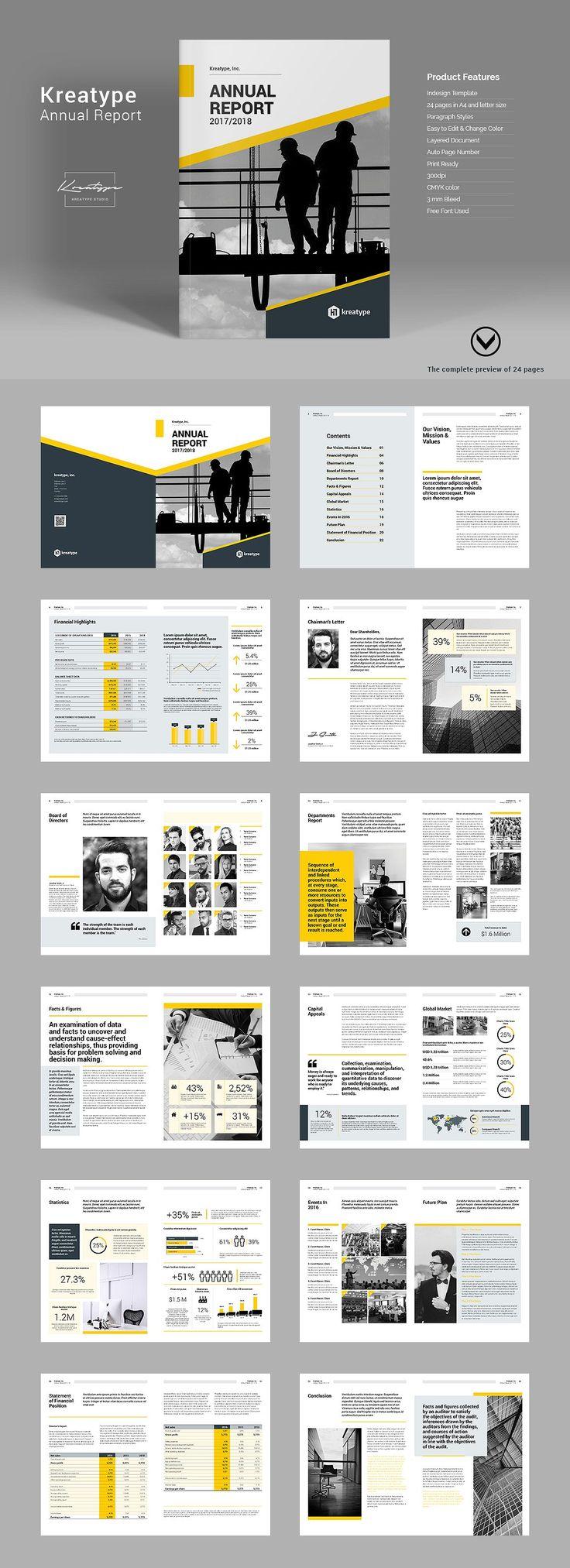 Kreatype Annual Report by Kreatype Studio on @creativemarket