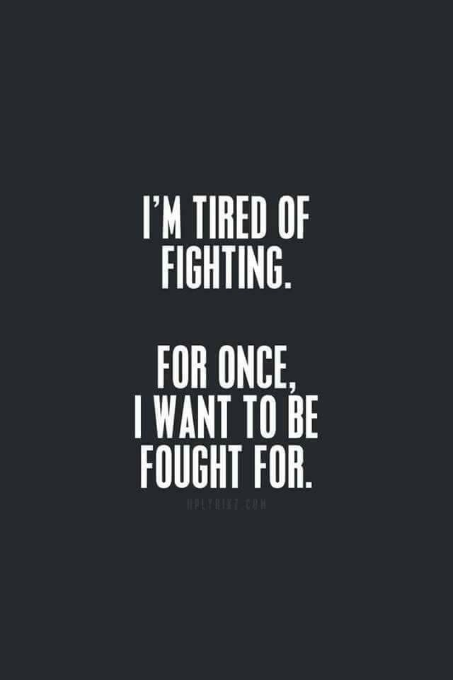 When will someone fight to keep ME?