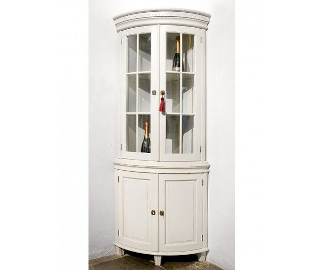 Cupboard in Gustavian Corner Vitrine style (item no: 1352). Visit our homepage for more information and to view all your finish & fabric options. /SWSC