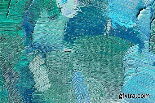CreativeMarket Set of Abstract oil paint texture 2028105