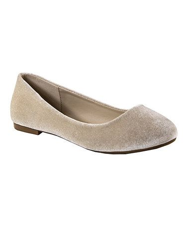Look what I found on #zulily! Nude Stacy Ballet Flat #zulilyfinds