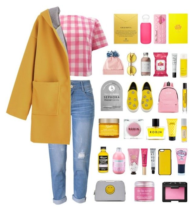 """""""sunny."""" by the-vagabond ❤ liked on Polyvore featuring WithChic, Federica Moretti, Knomo, Wildfox, Dogeared, Rodin, Thalgo, Marc Jacobs, Mullein & Sparrow and Kate Spade"""