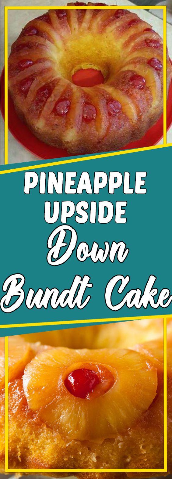 Pineapple Upside Down Bundt Cake #dessertrecipes #recipeoftheday #recipeideas #dessert #desserttable #appetizer