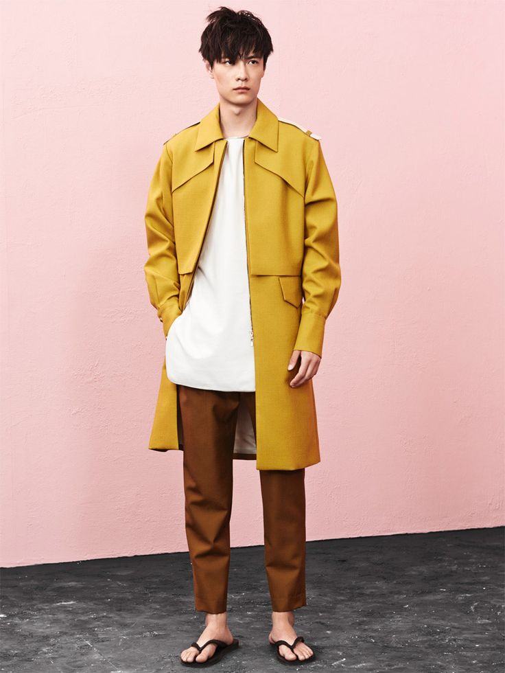 Sean Suen Fall/Winter 2014 - Full length coat - Colour palette?