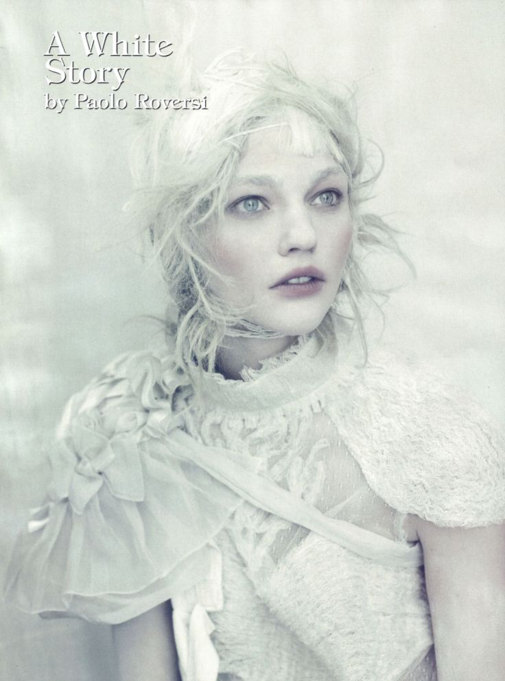 Sasha Pivovarova photographed by Paolo Roversi - Vogue Italia: April 2010