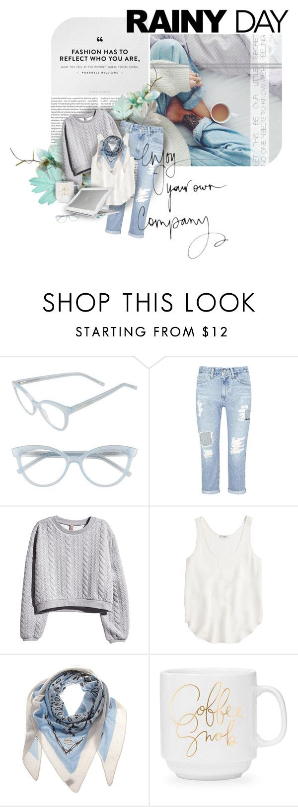 """""""Light Summer"""" by spicemarket ❤ liked on Polyvore featuring Oris, Kate Spade, AG Adriano Goldschmied, H&M, J.Crew, Lala Berlin and Thule"""