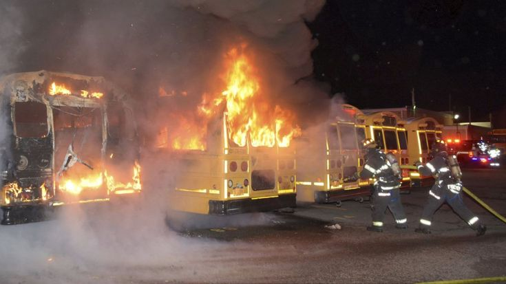 West Babylon school district fire destroys buses, official says