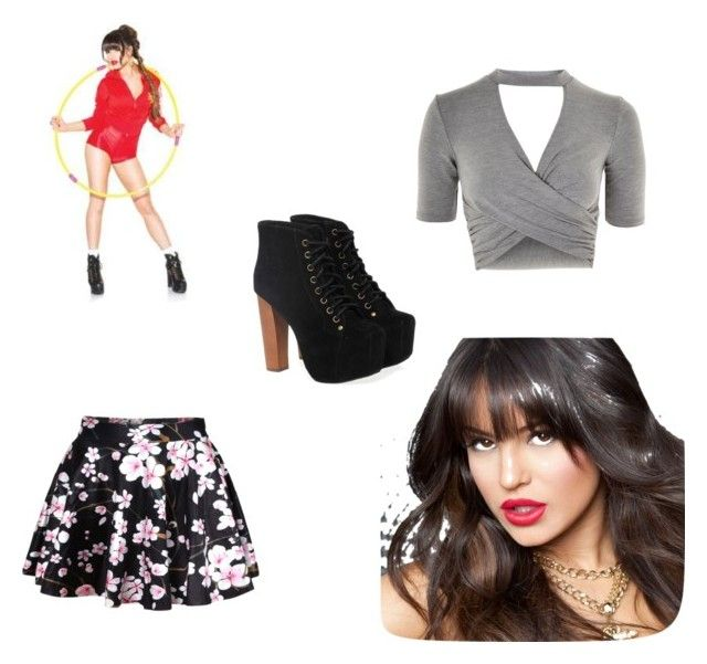 """""""Inspired by Natasha Slayton"""" by numberrich on Polyvore featuring Pussycat, WithChic, Topshop and Jeffrey Campbell"""