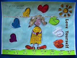 A Pretty Talent Blog: Art Therapy 7: Relationships Following The Primary Command - Love Yourself (Part 3/3)
