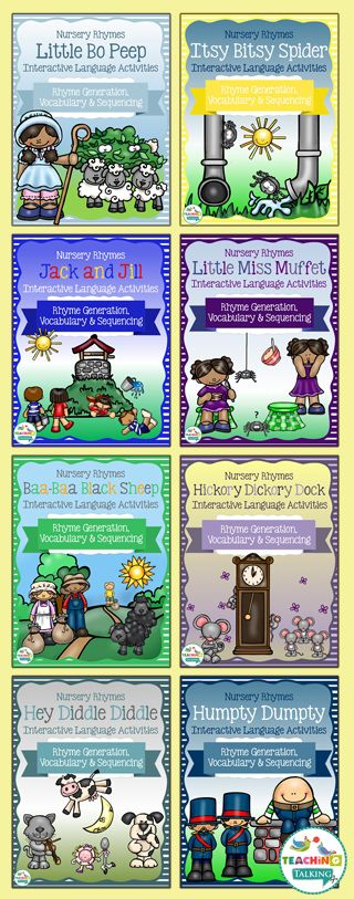 Bundle of Nursery Rhyme Activity Packs for Speech & Language Therapy by teachingtalking.com
