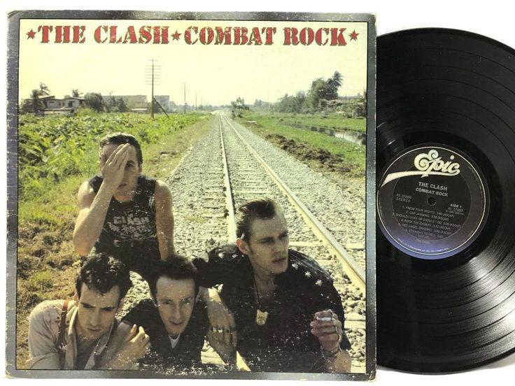The Clash Combat Rock 1982 Epic Records FE 37689 LP #Vinyl #Records