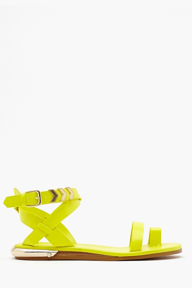 Zealand Sandal in Neon Yellow