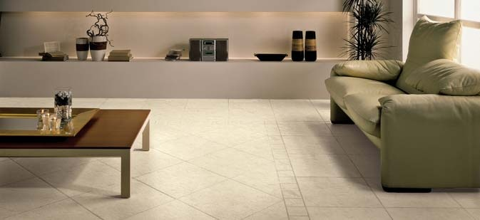 Less is more: simplistic yet fashionable, #ceramic has been fully utilised in the floor tile and matching border. #UnionTiles