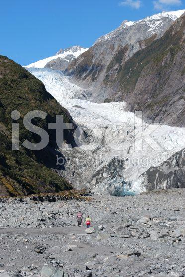 Franz Joseph Glacier, West Coast, NZ royalty-free stock photo