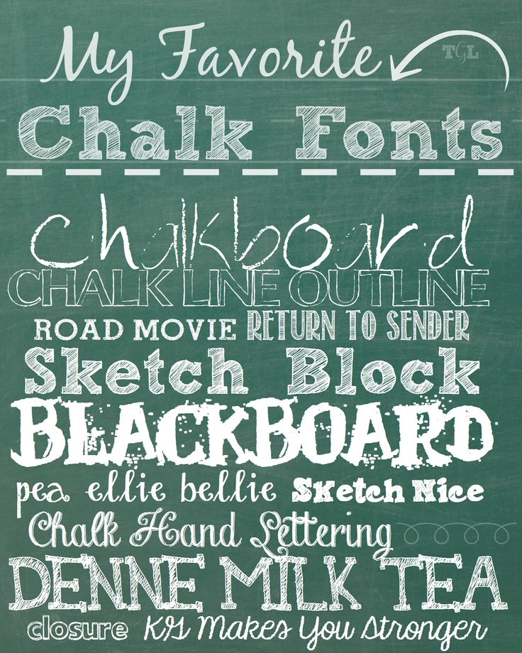 My Favorite Chalk Fonts | This Girl's Life Blog