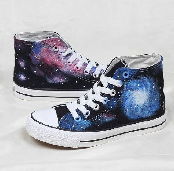 Galaxy Converse shoes Custom Converse Galaxy by Kingmaxpaints, $39.00