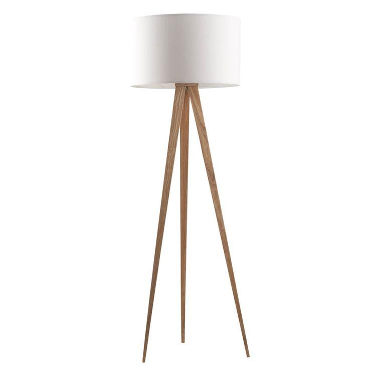 Lampa stojąca TRIPOD biała