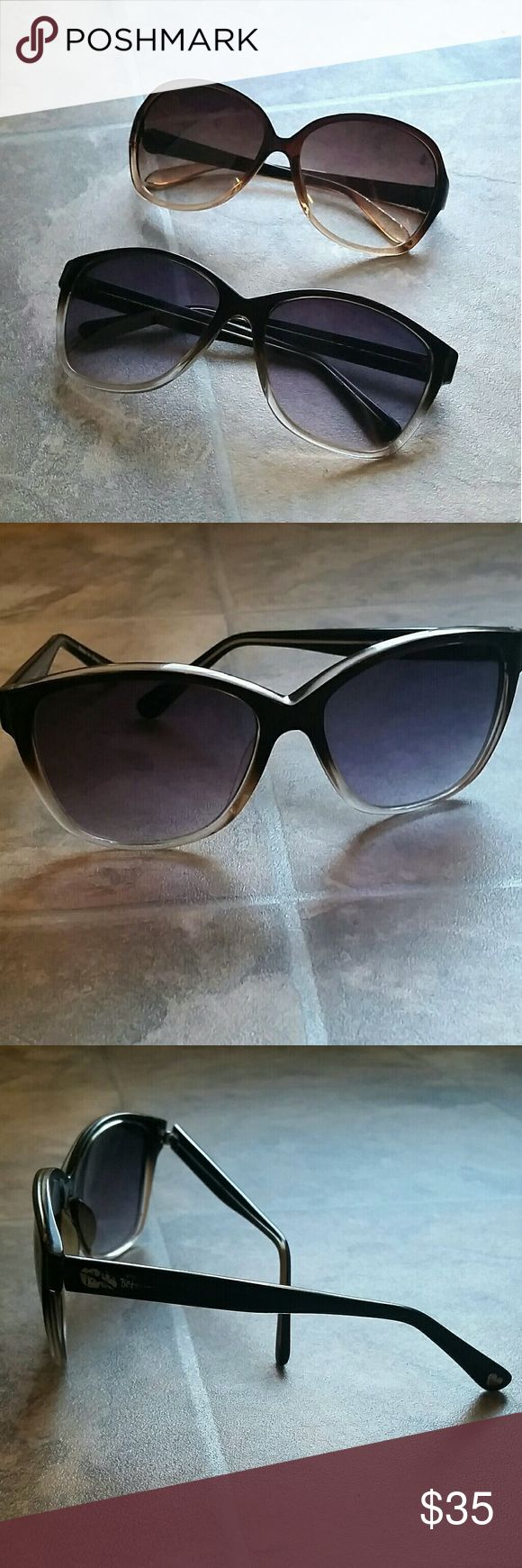 Betsey Johnson & JLO Sunglasses Bundle These Betsey Johnson & Jennifer Lopez sunglasses are both in great condition and are super cute! The Betsey Johnson glasses has a few scratches on the lens, but nothing noticeable. You will be happy with these shades