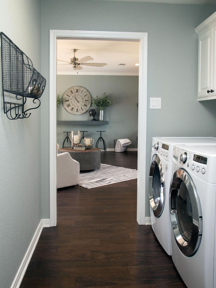 fixer upper yours mine ours and a home on the river blue wall colors laundry room colors. Black Bedroom Furniture Sets. Home Design Ideas