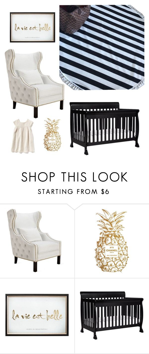 """Classic Black and White"" by styled-by-olivia-grace on Polyvore featuring interior, interiors, interior design, home, home decor, interior decorating, Chanel, DaVinci and Old Navy"