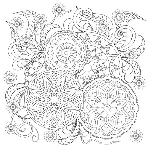 29 Best Images About Advanced Flower Coloring Pages On