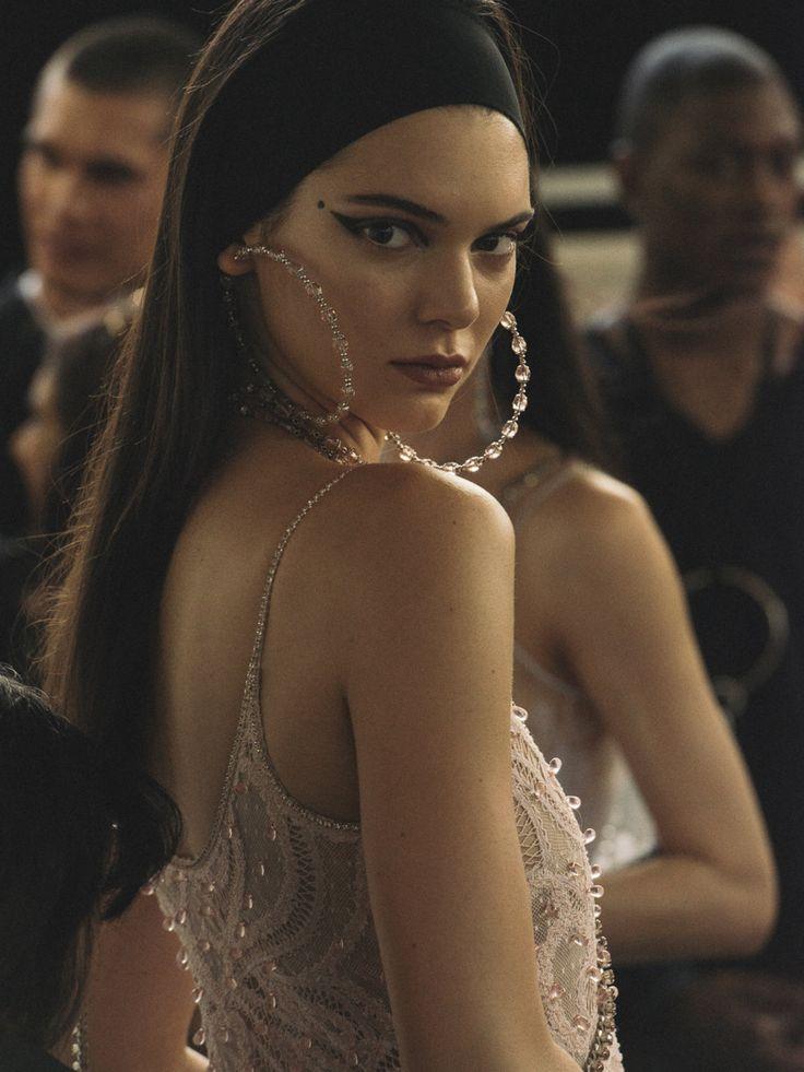 Kendall Jenner backstage at Givenchy Spring 2016 Menswear, Paris Fashion Week