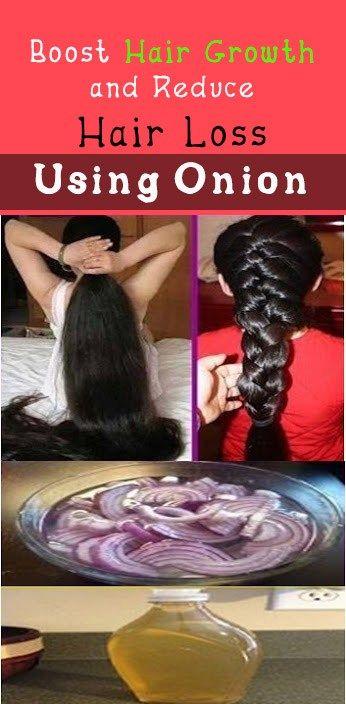 Boost Hair Growth and Reduce Hair Loss Using Onion #hair #nail #beauty #health #onion