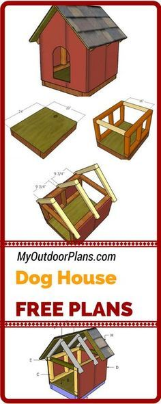 This small dog house is really easy to build and it will provide a nice shelter for your favorite pet. Check out the free dog house plans with free diagrams and step by step instructions! myoutdoorplans.com #diy #doghouse