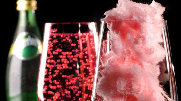Magic Perrier - Já pensou em misturar algodão doce com agua gaseificada ... ouuuuuu espumante?