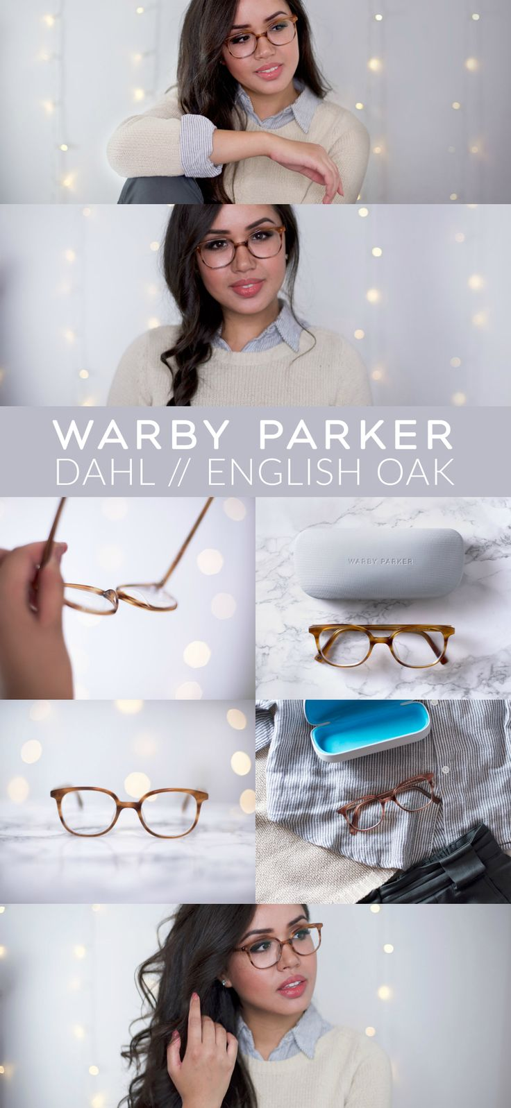 Warby Parker Dahl glasses in English Oak. Check out my review: https://brashandbrilliant.com/warby