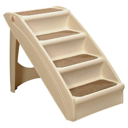 Foldable pet stairs with built-in safety rails and no-skid feet.  Product: Pet stairsConstruction Material: Plas...