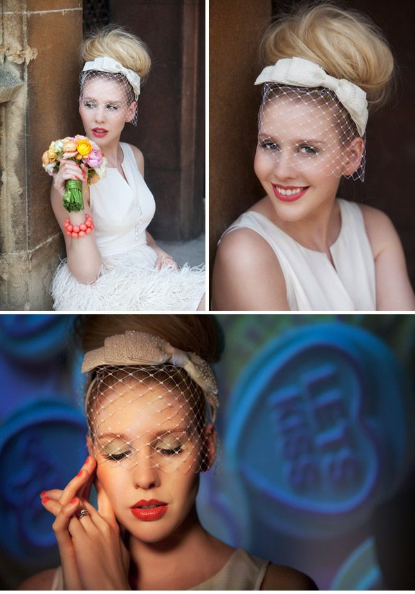 Our Favorite Summer Wedding Hairstyles - Wedding Party #birdcageveil #tulle #bow #hair