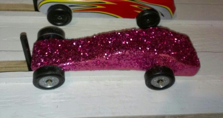 Girly pinewood derby car girl scout cars
