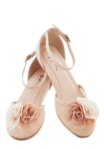 Blush bridal or bridesmaids flats