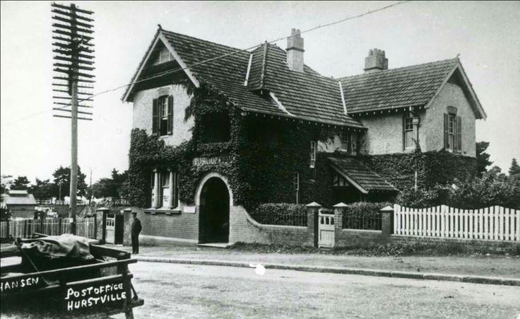 Hurstville Post Office in southern Sydney in the 1920s. •Hurstville City Library•