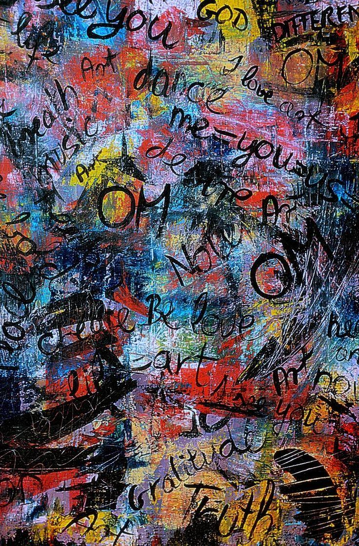 Words magic/2014 70x100 cm Acrylic on canvas-Lívia Földes