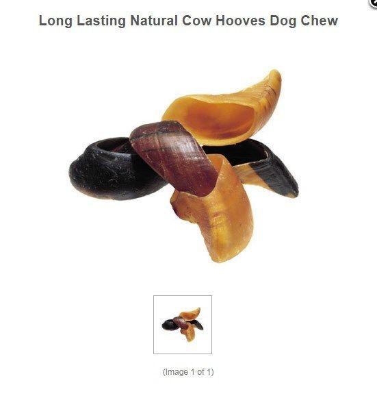 DOG CHEWS & TREATS DOG SUPPLIES LONG LASTING NATURAL COW HOOVES DOG CHEW #Redbarn
