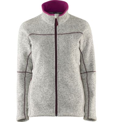 Swook Jacket, made from fleece with a knit face for mid or outer layer use.